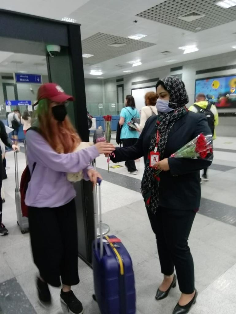استقبال أولى الرحلات القادمة من براغ