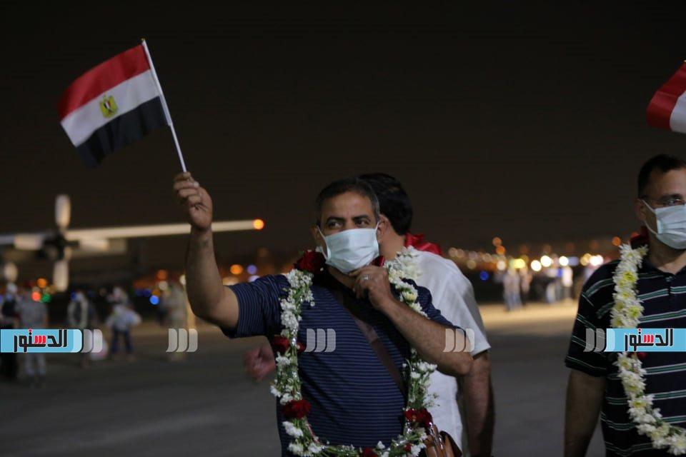 استقبال المصريين العائدين من أفغانستان