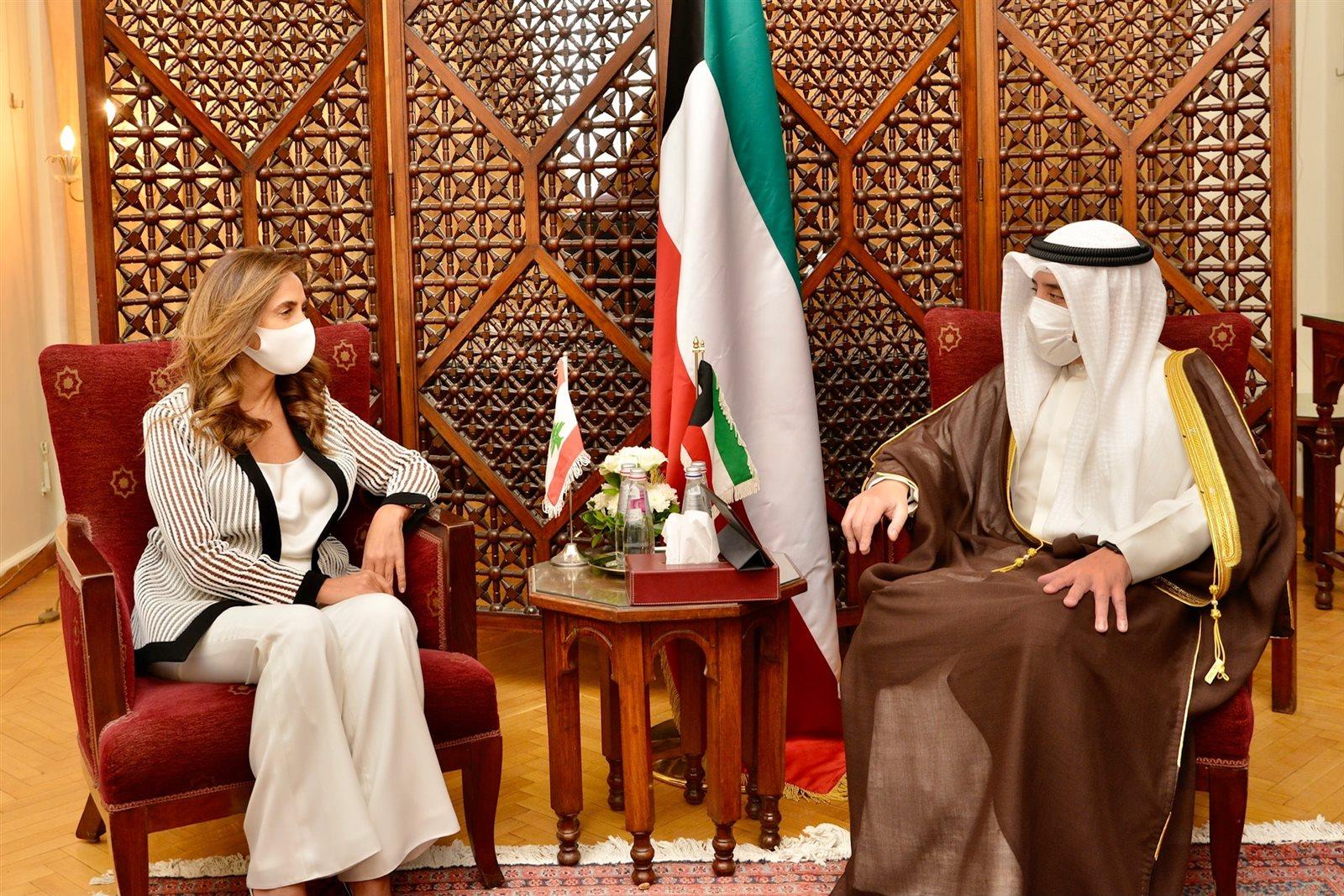 وزير الخارجية الكويتي ونظيرته اللبنانية
