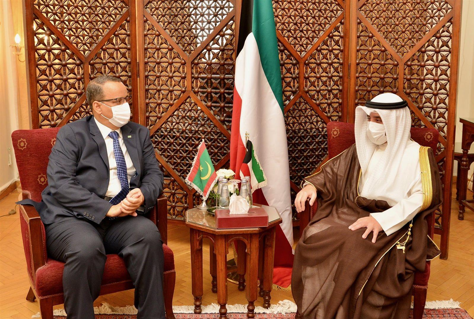 وزير الخارجية الكويتي ونظيره الموريتاني