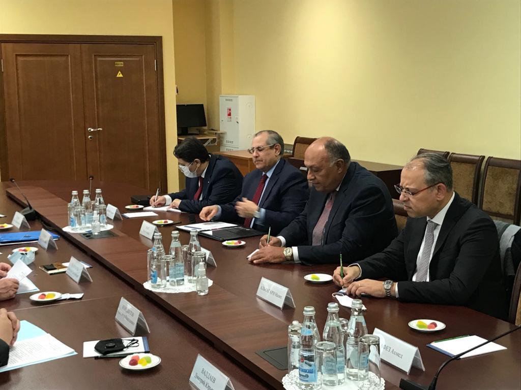 شكري يجتمع بسكرتير مجلس الأمن الروسي