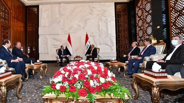 بدء أعمال القمة الثلاثية بين الرئيس السيسى والكاظمى والملك عبدالله