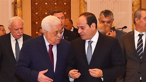 الرئيس السيسى وأبومازن يعقدان جلسة مباحثات ثنائية بقصر الاتحادية